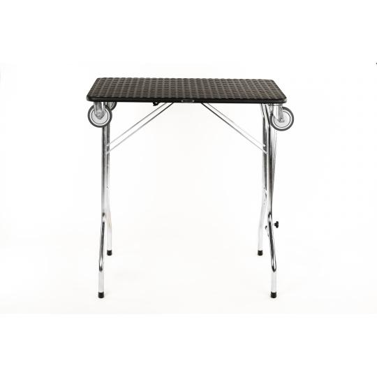 Stůl na úpravu psů, trimovací stůl skládací, s koly, na ložiskách, rozměr pracovní plochy 90*55cm