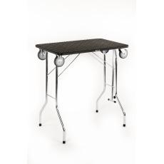 Stůl na úpravu psů skládací, trimovací stůl skládací, s kolečky na ložiskách, pracovní plocha 80*50cm