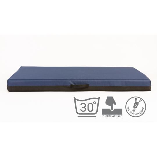Ortopedická matrac, pelech s pamäťovou penou, modrý Oxford materiál 4XL120x80cm 10cm vysoká