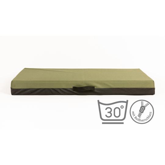 Matrace pelech khaki materiál Oxford 4XL120x80cm 10cm vysoká