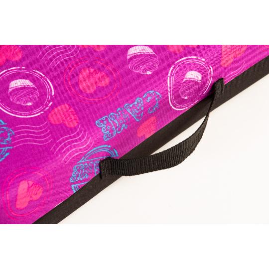 Matrace pelech se snimatelným potahem růžový variace textilie Oxford 4XL 120*80cm 10cm vysoký