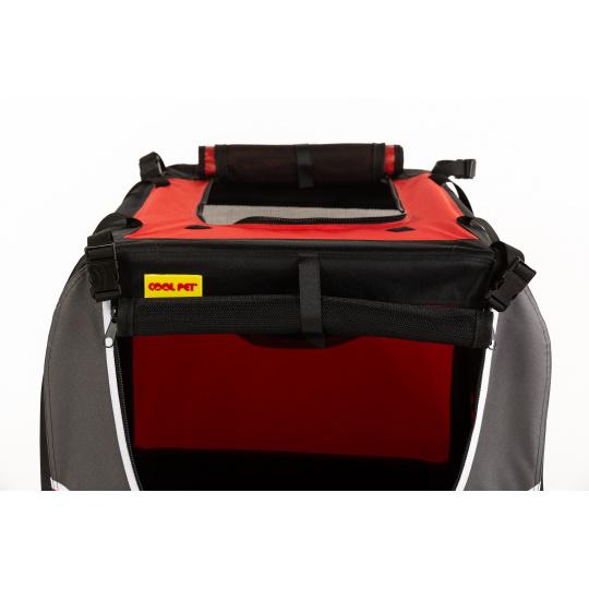 Transportní box, skládací kenelka COOL PET M červená 58 x 38 x 38 cm