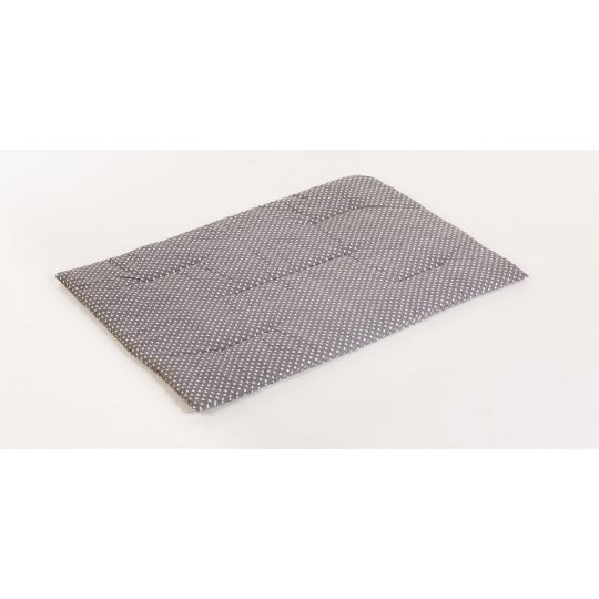 Bavlněná podložka vzor srdíčka pelíšek plněná rounem 90*65cm