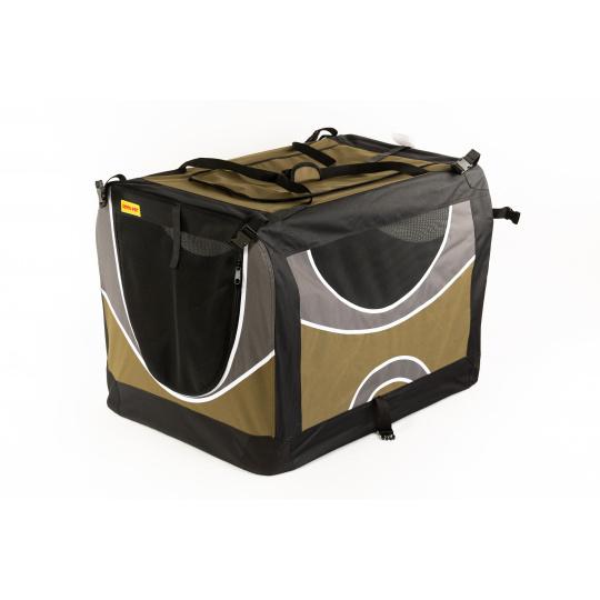 Transportní box, skládací kenelka COOL PET XL olivová barva 82 x 59 x 59 cm