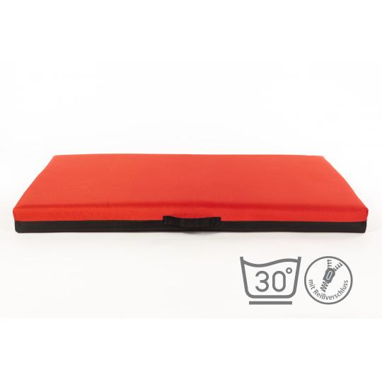 Pelech matrace červená 4XL 120*80cm 10cm vysoká, oxford textilie