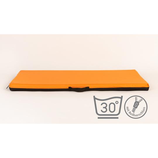 Matrace pelech se snimatelným potahem oranžová textilie Oxford 4XL 120*80cm 10cm vysoký