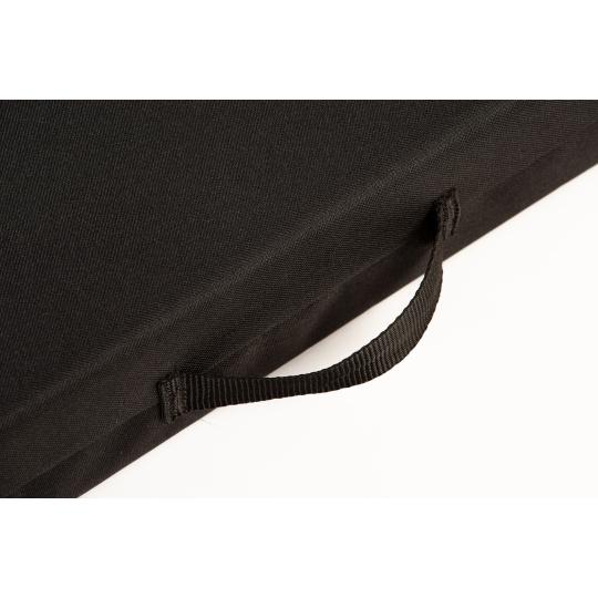 Matrace pelech se snímatelným potahem černý pevný materiál Oxford 4XL 120x80cm 10cm vysoká