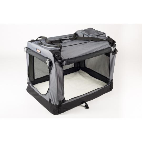 Skladacia búdka sivá COOL PET PLUS S  49,5 x 34,5 x 35 cm