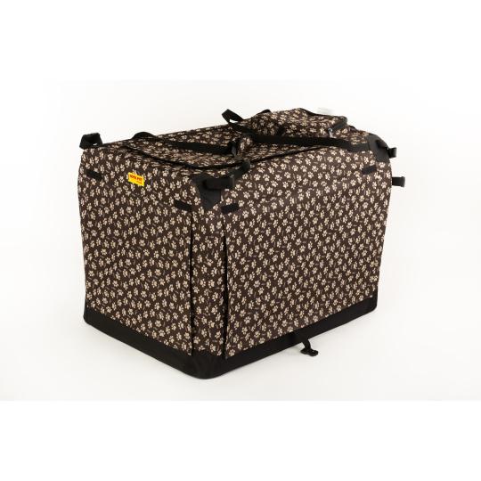 Autobox kenelka skládací COOL PET PLUS 3XL 102*69*80cm hnědá s tlapkami