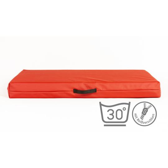 Matrace červená ekokůže 3XL 100x67cm 10cm vysoká